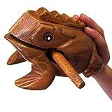 "World Percussion USA FR06N Large 6"" Wood Frog Guiro Rasp, Tone Block"