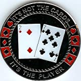 The Player not the Cards Poker Weight Card Guard Cover Chip Coin