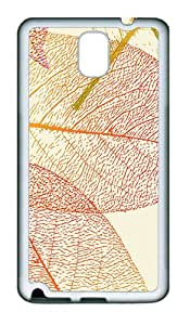 Translucent Leaves TPU Silicone Case Cover for Samsung Galaxy Note 3 N9000 ¨C White