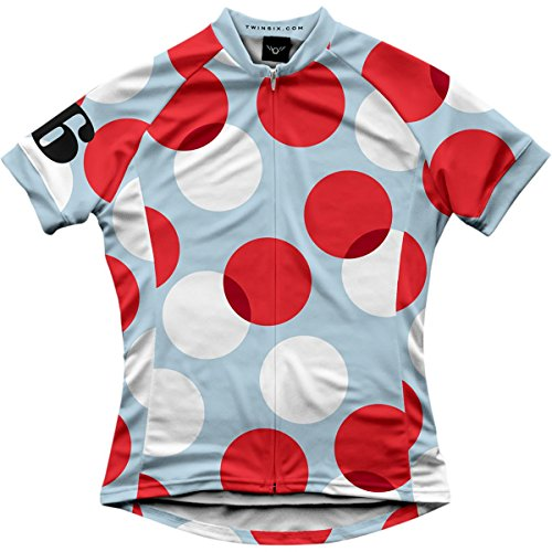 Twin Six Polka Jersey - Short Sleeve - Women's Powder Blue/Red/White/Black, XS (Twin Six Cycling Jersey compare prices)
