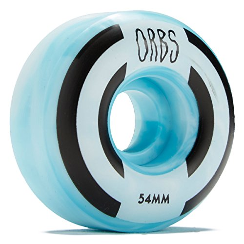 WELCOME Orbs Apparitions Skateboard Wheels - Blue/White - 54mm 100A by WELCOME