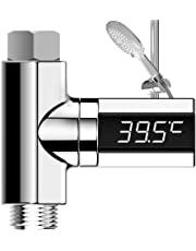 Huapa LED Digital Display Water Bath Thermometer - Shower Bath Thermometer Home Shower Real Time Water Temperature Monitor for Baby Adults Accurately Measures Automatic Power