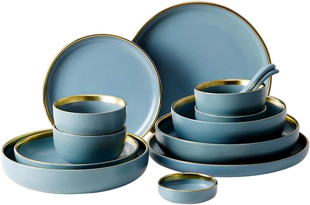 Home Collection Maison Cuisine Vaisselle Accessoires de Voyage F/ête Ensemble de 4 Assiettes en Bambou /Écologique Motif Fleurs Fruits Stylis/és