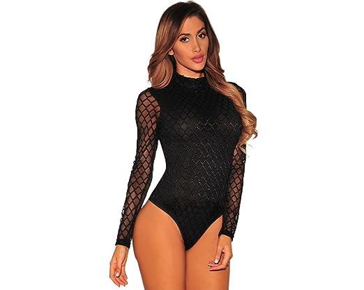 Carolina Dress Body Vestidos Ropa De Moda Para Mujer De Fiesta y Noche Elegante Casuales (L, Black) VE0036 at Amazon Womens Clothing store: