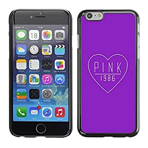 "Pulsar Snap-on Series Teléfono Carcasa Funda Case Caso para Apple Iphone 6 Plus / 6S Plus ( 5.5 ) , Corazón púrpura del amor Música 1.986"""