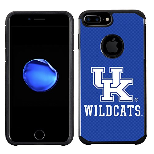(Prime Brands Group Textured Team Color Cell Phone Case for Apple iPhone 8 Plus/7 Plus/6S Plus/6 Plus - NCAA Licensed University of Kentucky Wildcats)