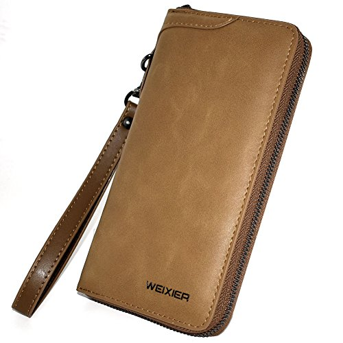 f3f4d7b6657b 長財布 本革 マネークリップ メンズ 薄型 紳士 小銭入れ ラウンドファスナー コンパクトiphone7 iphone8入れ