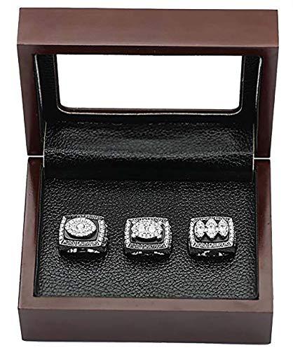 Oakland Raiders Super Bowl Championship Replica Ring by Display Box Set (A Set of 3)
