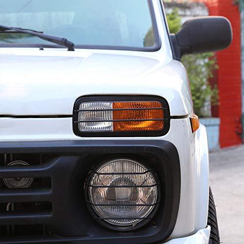 TOOGOO 2 X Garniture de Cadre de Protecteur de Lampe de Brouillard Avant de Voiture en Alliage pour Lada Niva Accessories