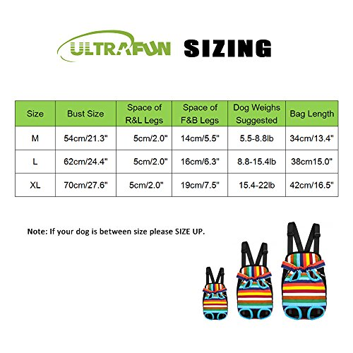 Ultrafun-Portable-Dog-Front-Carrier-Backpack-Legs-Out-Breathable-Travel-Outdoor-Bag-for-Pet-Puppy-Cat-M-Rainbow