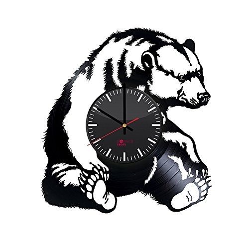 grizzly-bear-handmade-vinyl-record-wall-clock-get-unique-living-room-wall-decor-gift-ideas-for-adult