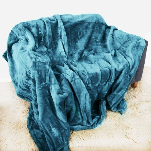 Teal Mink Throw Luxury Soft Plush Extra Large (200cm x 240cm- Suitable for King Size Bed or 2/3 Seater Sofa) Sofa Bed Runner Bedspread Blanket by Quality Linen and Towels by Quality Linen and Towels
