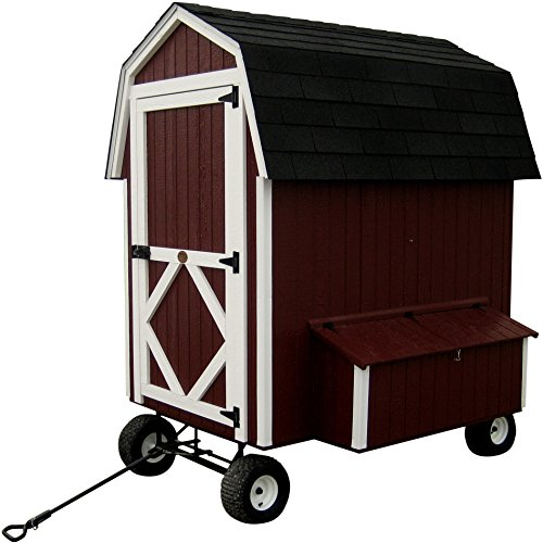 Little Cottage Company Barn Coop with Wheels Panelized Playhouse Kit, 4' x 6'