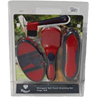 Rhinegold Soft Touch Grooming Blister Pack-Red/Navy Cepillos