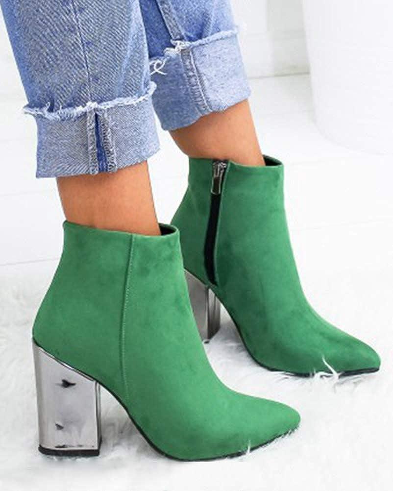Minetom Femme Cheville Haute Confort Cuir Chelsea Bottes /Él/égant Mode Cuir Su/éd/é Talon Bloc Transparent Bottines Boots
