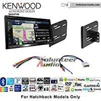 Volunteer Audio Kenwood DNX574S Double Din Radio Install Kit with GPS Navigation Apple CarPlay Android Auto Fits 2012-2013 Nissan Versa