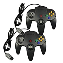 Bowink Game gaming pad console Controller For N64 (Black and Black)