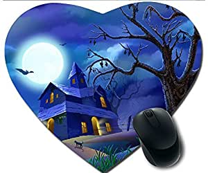 Hot Heart-Shaped Comfortable Mouse Pad - Customizable Printed On Beautiful Halloween Bunkers And Bats Or Fruit Durable Cool Game Mouse Pad