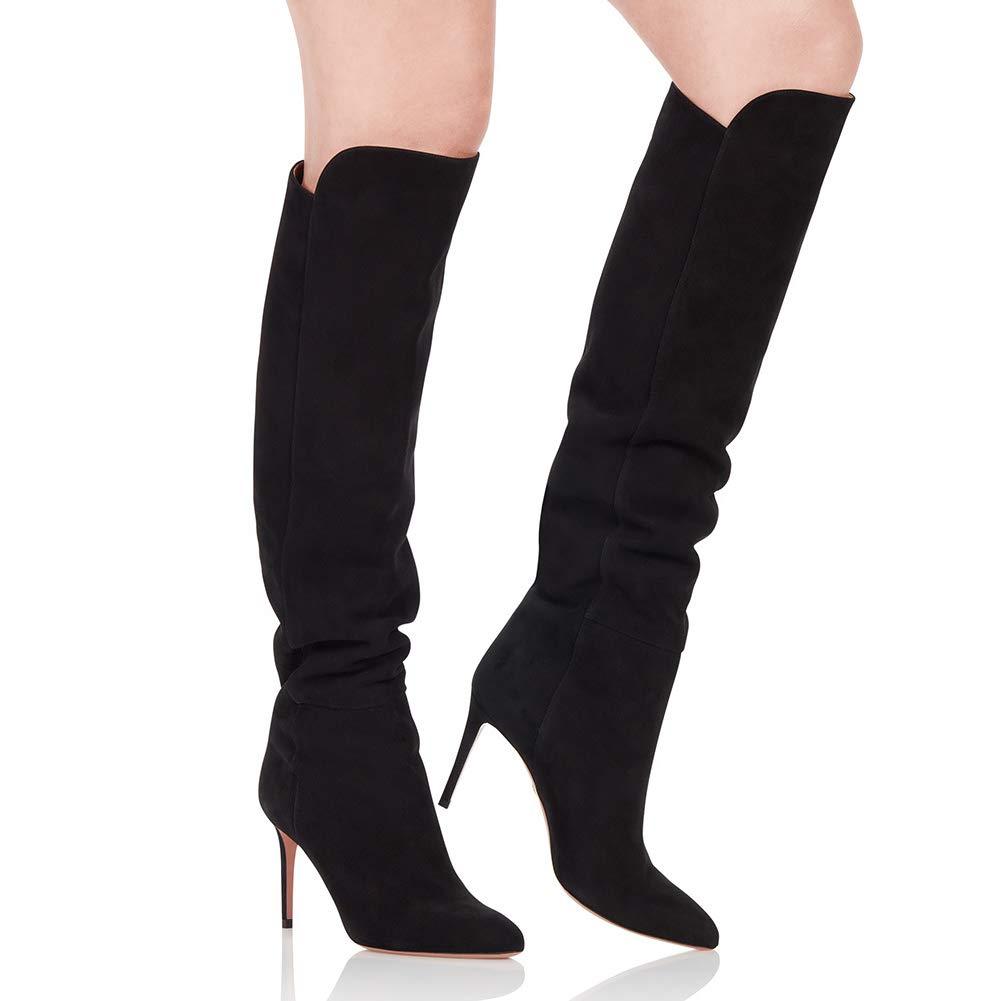 WHL.LL Frauen Über Dem Knie Hoher Hoher Hoher Absatz Stiefel Warm Bleiben Atmungsaktiv Schlanker High Heel Kniestiefel Mode Kleid Stiefel (Absatzhöhe  12Cm) 5b222e
