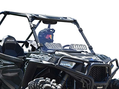 (SuperATV Heavy Duty Scratch Resistant Vented Full Windshield for Polaris RZR XP 1000 / XP 4 1000 (2014-2018) - Vented for Extra Airflow - Installs in 5 Minutes!)