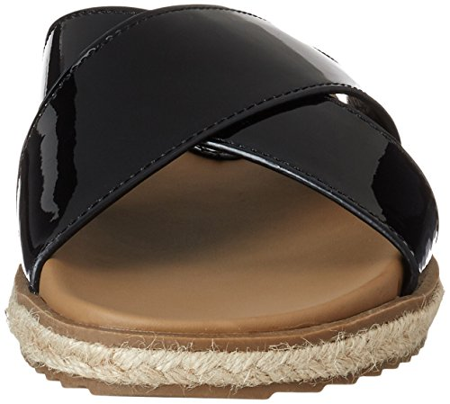 Punta Black Mujer Sandalias Black Con Ladies Xti Sandals Mirror black Abierta Negro Pu 4Cwaq