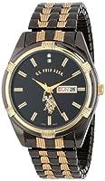 U.S. Polo Assn. Classic Men's USC80047 Two-Tone Watch Black-Dial Watch