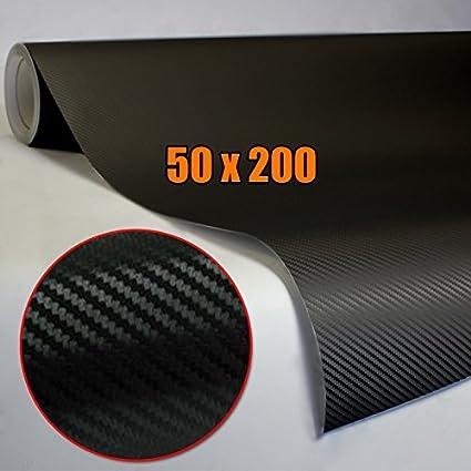 DP Design® - Película adhesiva de carbono, 3D, 200 x 50 cm, para coches o motos, color negro: Amazon.es: Coche y moto