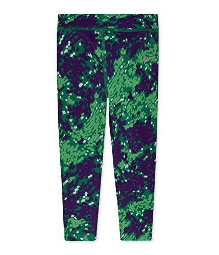Nike Little Girls' Graphic-Print Athletic Pants (5) Bright Green