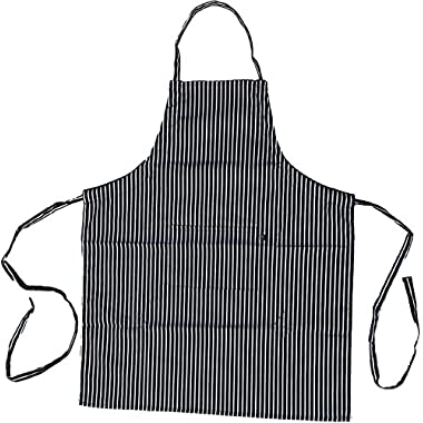 ObviousChef, Striped Apron - Adult Professional Apron - Single Pocket - Single String Adjustable (1, Striped)