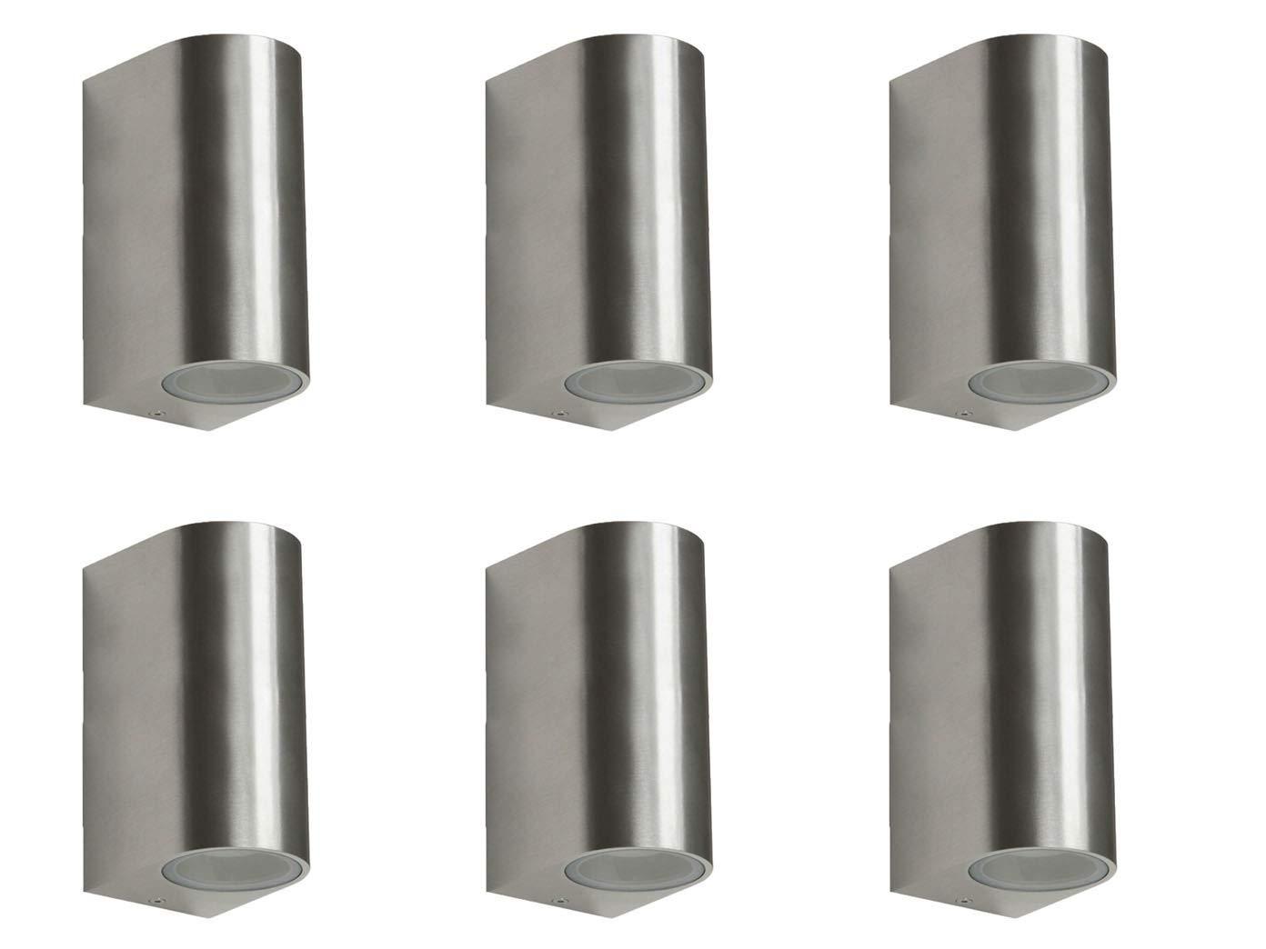 6er Set Ranex SMD-LED Wandleuchte Metall, up downlight, 160Lm, warm, warm, warm, IP44, 5000.467-6 6e3cc9