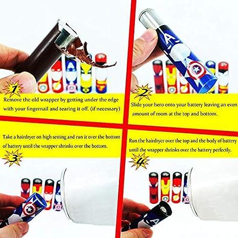 6 x Mini VampCase PVC Schrumpfschlauch Wraps Heat Shrink Tubes Sleeves f/ür 18650 Akku Cartoons
