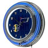 Trademark Gameroom NBA1400-UJ3 NBA Chrome Double Rung Neon Clock - City - Utah Jazz