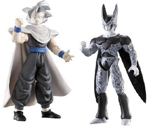 Jakks Pacific Dragon Ball Z SS Gohan vs Cell Action Figures, Pack of 2