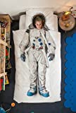 Astronaut Duvet Cover and Pillow Case Set for Kids by SNURK – Full / Queen