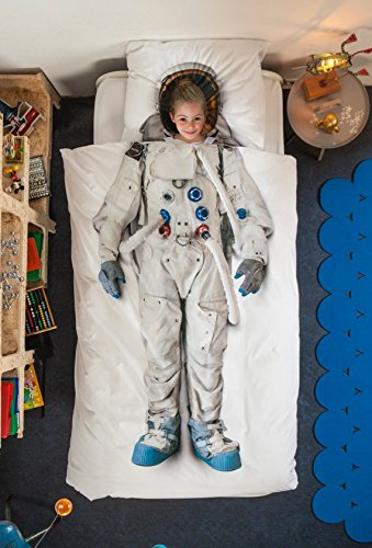 Astronaut Duvet Cover and Pillow Case Set for Kids by SNURK – Full / Queen by SNURK