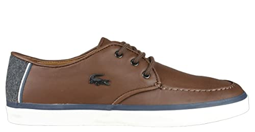 db5c83e25e0d0c Image Unavailable. Image not available for. Colour  Lacoste Mens Shoes  Sevrin SRM Oxfords Dark Brown Leather