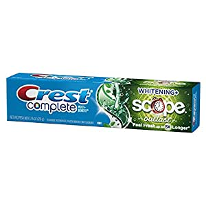 Crest Complete Multi-Benefit Whitening + Scope Outlast, Mint Toothpaste - 4.0 Oz, Pack of 6
