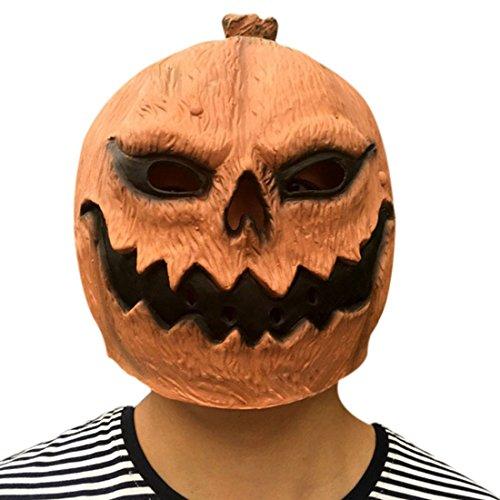 Freahap Hallowen Pumpkin Mask Latex Head Costume Novelty Party Decorations #2