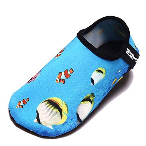 Equick Vrouwen Water Schoenen Sneldrogende Adempauze Sport Huid Schoenen Blootsvoets Anti-slip Multifunctionele Sokken Yoga Oefening T.blue2
