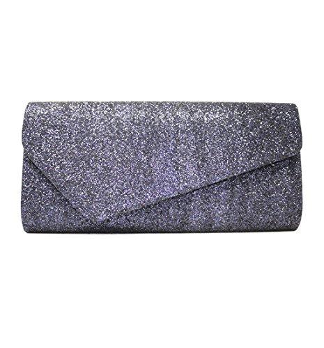 LeahWard Damen Handtasche für Hochzeit Abend Hochzeit Clutch Bag für Prom Party 347 (SILBER) B. DUNKELBLAU