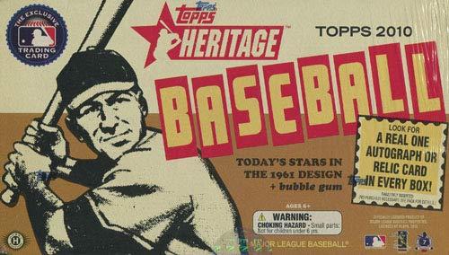 Topps Heritage Card 2010 - 2010 Topps Heritage Baseball Hobby Box