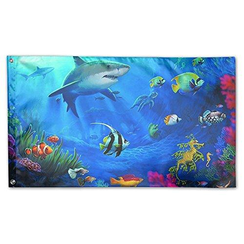 BINGOGING FLAG Decorative House Flags - Underwater World Cor