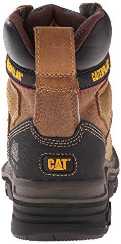 Bota De Trabajo Caterpillar Hombres Hauler 6 Waterproof Comp Toe Dark Beige