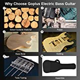Goplus Electric Bass Guitar Full Size 4 String with Strap Guitar Bag Amp Cord