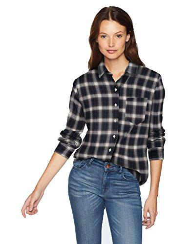 Pendleton Women's Primary Flannel Shirt, Midnight Navy Plaid, M