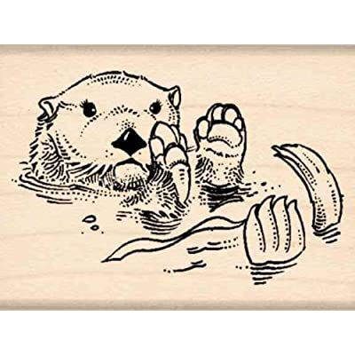 Stamps by Impression Otter Rubber Stamp: Arts, Crafts & Sewing