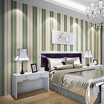 Hochwertige Grün Schlafzimmer Wohnzimmer TV Wand Papier Hintergrund  Senkrechte Streifen Im Minimalistischen Modernen Studie Viertel