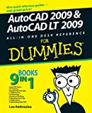 AutoCAD 2009 and AutoCAD LT 2009 All-in-One Desk Reference for Dummies, Lee Ambrosius, 0470243783