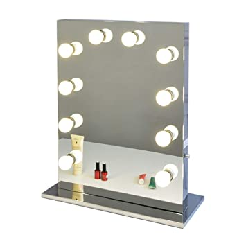 Amazon.com: Chende Hollywood Style Vanity Mirror with Dimmable Light ...