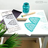 The Stencil Studio - Stencil MiNiS - Taj Indian Border Stencil - Reusable Stencil ideal for home décor, furniture upcycling, cake decorating, cardmaking and scrapbooking. (10613)